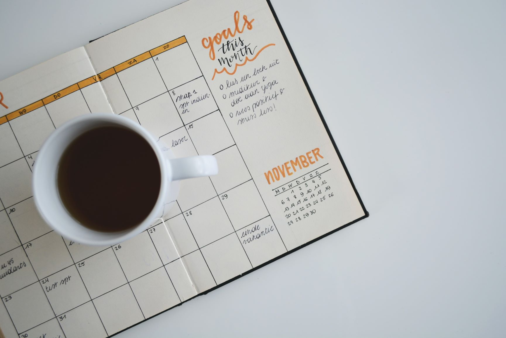 planner and goal making